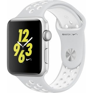 Apple Watch Nike+ Series 2 42mm - Smart Watch with Heart Rate Monitor - Pure Platinum/White
