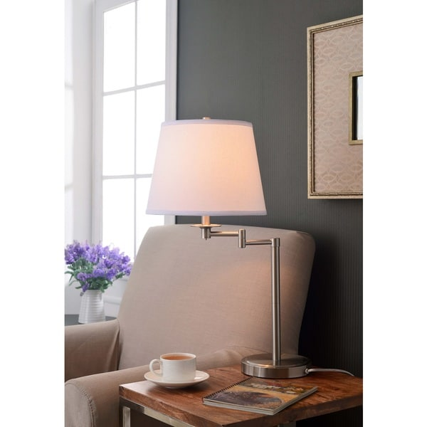 Copper Grove Hersey Brushed Steel Accent Lamp