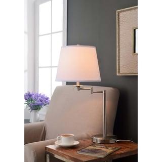 Design Craft Benson Brushed Steel Accent Lamp
