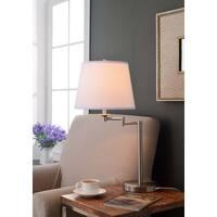 Laurel Creek Linden Brushed Steel Accent Lamp