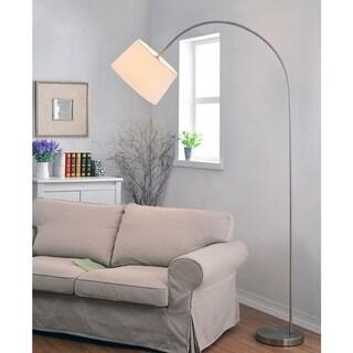 Loom Brushed Steel Arc Floor Lamp