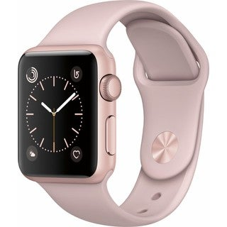 Apple Watch Series 1 42mm - Smart Watch with Heart Rate Monitor - Pink Sand