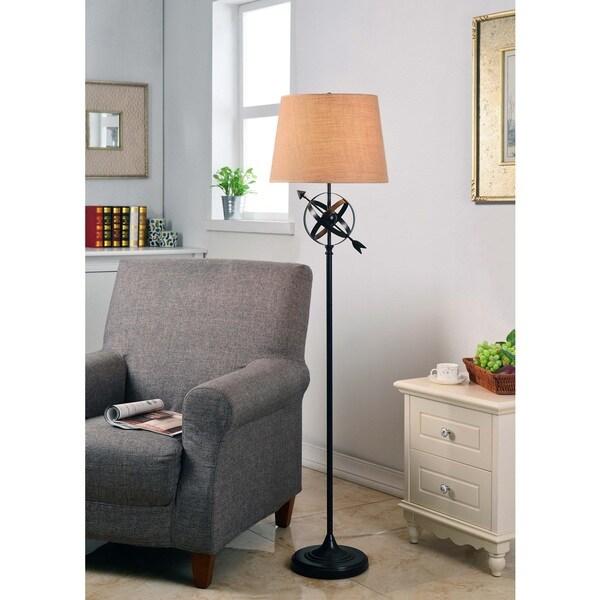 Design Craft Equatorial Golden Flecked Bronze Floor Lamp