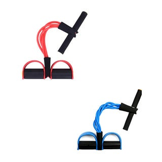 Sit-up Resistance Bands with Foot Pedal