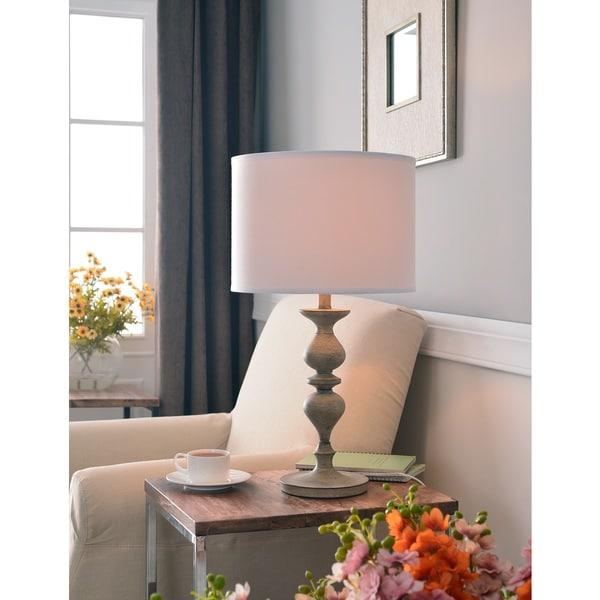 Shop Oat Wood Grain Table Lamp On Sale Free Shipping Today