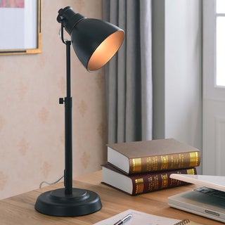Design Craft Idol Blackened Oil Rubbed Bronze Desk Lamp