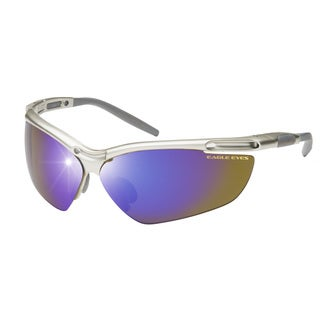 Eagle Eyes Unisex Pro XL/30075 Silver-tone/Blue/Brown Plastic Sunglasses