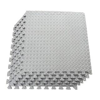 Multipurpose Interlocking EVA Foam Anti-Fatigue Exercise Puzzle Mat Tiles, (24 Sq. Ft. , 6 Tiles) (2 options available)