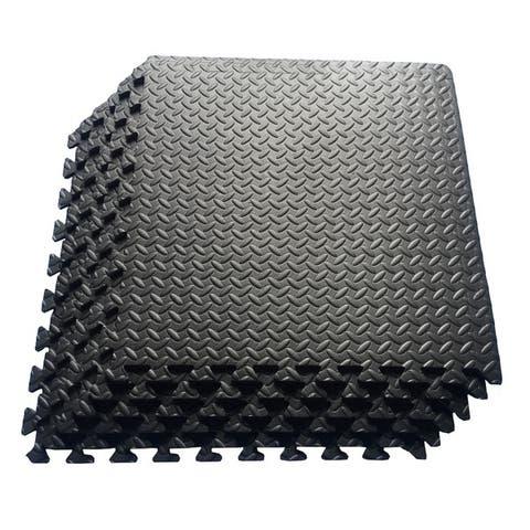 Multipurpose Interlocking EVA Foam Anti-Fatigue Exercise Puzzle Mat Tiles, (24 Sq. Ft. , 6 Tiles)