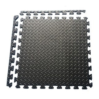 Multipurpose Interlocking EVA Foam Anti-Fatigue Exercise Puzzle Mat Tiles, (24 Sq. Ft. , 6 Tiles)