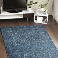 Fenwich Blue Cotton Area Rug - 3'6 x 5'6'