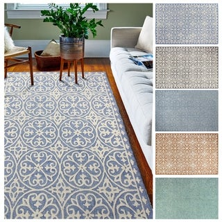 Link to Hanover Contemporary Hand Tufted Area Rug Similar Items in Transitional Rugs