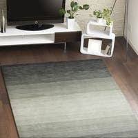 "Malibu Contemporary Black, Off-white Cotton Area Rug - 3'6"" x 5'6"""