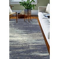 Paola Blue/Grey Abstract Area Rug - 5'x 7'6