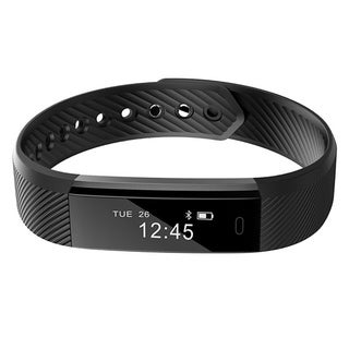 ID115 Fitness Tracker Smart Bracelet Step Counter Activity Monitor Wristband for Android IOS Black