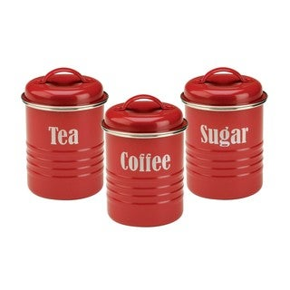 Typhoon Vintage Kitchen Red Storage Canisters - Set of 3