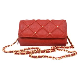 Big Buddha Lee Red Crossbody Handbag