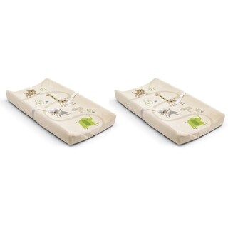 Summer Infant Ultra Plush Changing Pad Cover - Safari - 2 Count