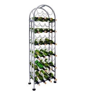 Porch & Den New River Bronze Steel 47-bottle Wine Rack