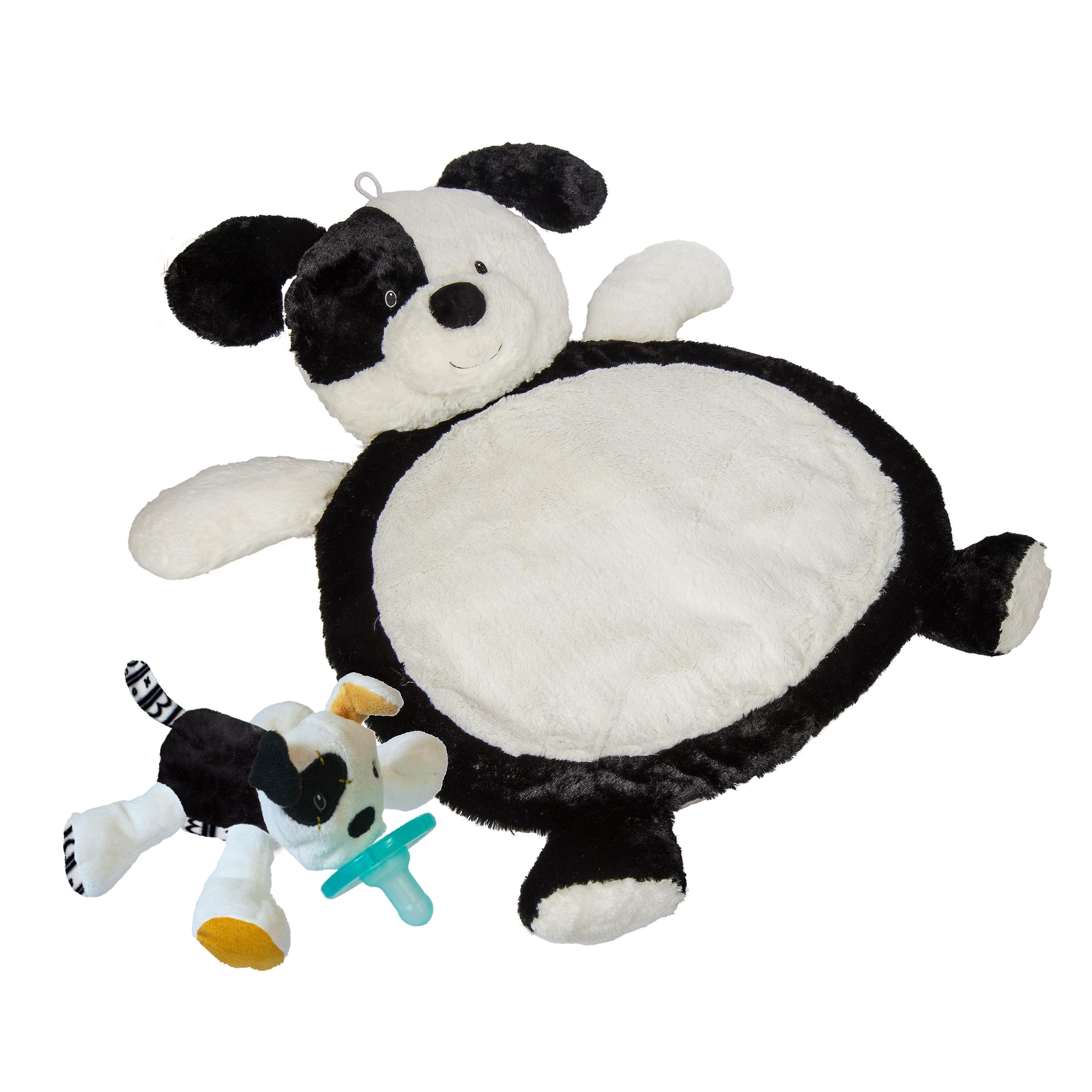 Mary Meyer Baby Mat - Black & White Puppy with WubbaNub T...