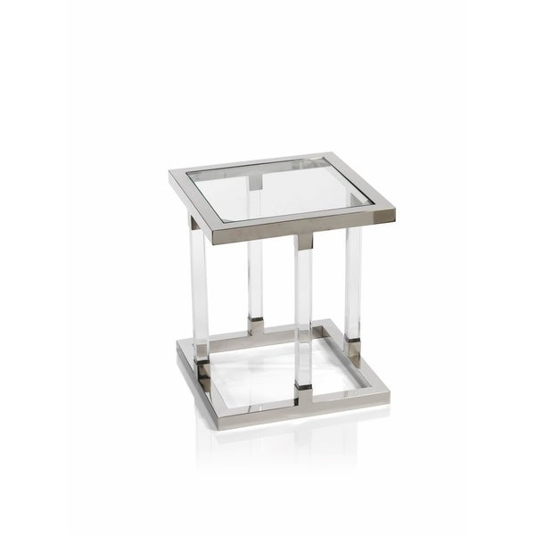 Shop Zodax Inch High Amalfi Side Table Free Shipping Today - 17 inch high coffee table