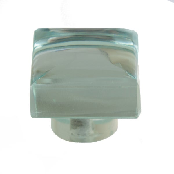 GlideRite 1.188 Inch Modern Square Mirror Glass Cabinet Knobs (Pack Of 10  Or 25)
