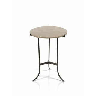 Zodax 22-Inch High Mimouna Marble Top Side Table