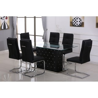 Best Master Furniture Ericka Black 5 Piece Dining Set