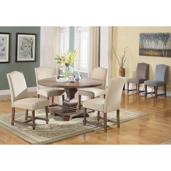Shop Best Master Furniture Weathered Oak Sleigh: Shop Best Master Furniture M084 Tan 5 Pieces Dining Set