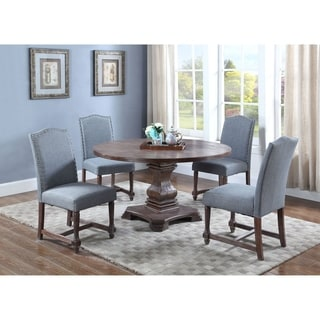 Best Master Furniture M084 Eton Blue 5 Pieces Dining Set