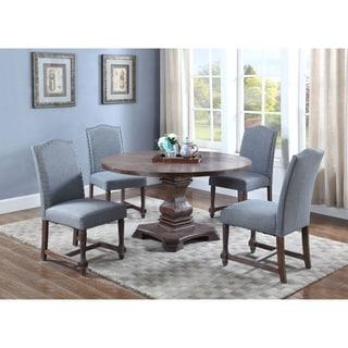 Best Master Furniture M084 Eton Blue 5 Pieces Dining Set