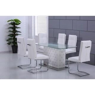 Best Master Furniture Ericka White 5 Piece Dining Set