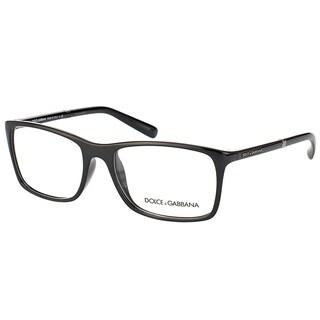 Dolce & Gabbana Unisex Black Plastic Rectangular Eyeglasses