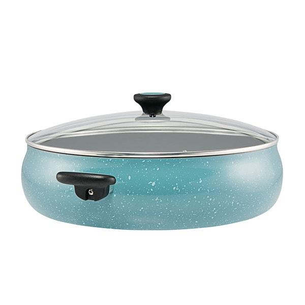 Paula Deen(r) Riverbend Aluminum Nonstick Covered Family Gathering Pan / Large Jumbo Cooker