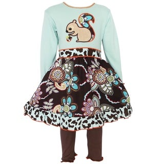 AnnLoren Girls Autumn Forest Squirrel Dress & Leggings Set|https://ak1.ostkcdn.com/images/products/16636713/P22960765.jpg?_ostk_perf_=percv&impolicy=medium