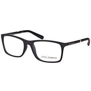Dolce & Gabbana Unisex DG 5004 2616 Black Rubber and Plastic 54.6-millimeter Rectangle Eyeglasses