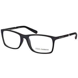 Dolce & Gabbana DG 5004 2616 Black Rubber Plastic 52.8-millimeter Rectangle Eyeglasses