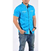Men's Short Sleeve Casual Button Down Shirt