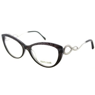 Roberto Cavalli Women's RC 5009 020 Grey Print Plastic 54-millimeter Cat Eye Eyeglasses