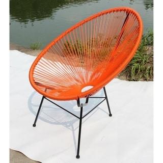 Acapulco Indoor/Outdoor Modern Tuscon Chair Orange