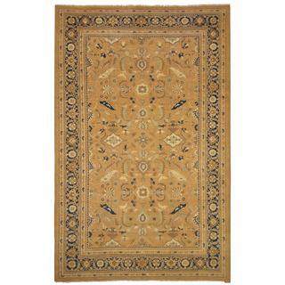Arshs Fine Rugs Kafkaz Peshawar Cinderel Taupe/ Blue Wool Hand-knotted Rug (10' x 15')