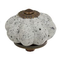 GlideRite 1.75 inch Stone Look Ceramic White and Gray Cabinet Knobs (Pack of 10 or 25)