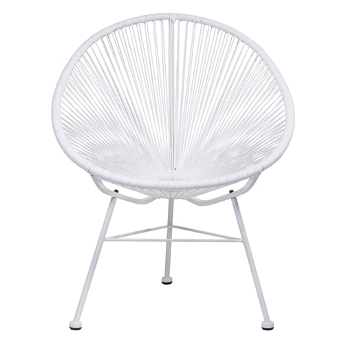 Astonishing Acapulco White Vinyl Indoor Outdoor Patio Chair Home Interior And Landscaping Dextoversignezvosmurscom