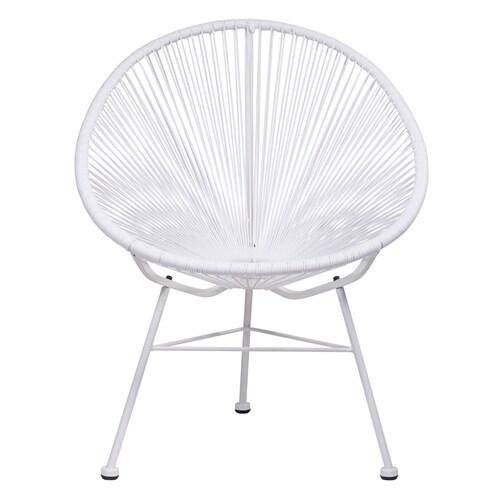 Acapulco White Vinyl Indoor/Outdoor Patio Chair WHITE