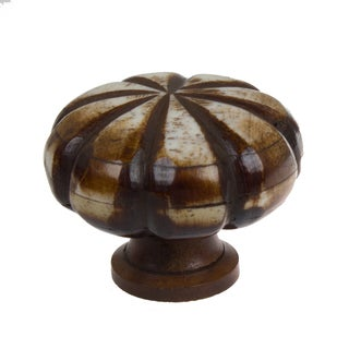 GlideRite 1.5 inch Round Scalloped Antique Brown Bone Cabinet Knobs (Pack of 10 or 25)