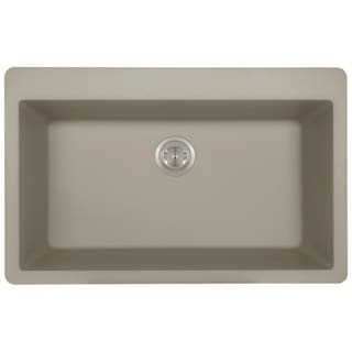 MR Direct TruGranite Slate Large Single Bowl Topmount Sink
