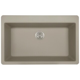 trugranite slate large single bowl topmount sink acrylic kitchen sinks for less   overstock com  rh   overstock com