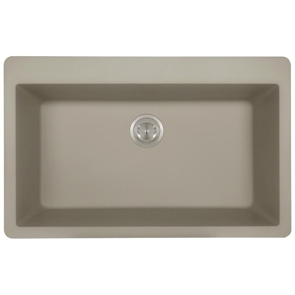 TruGranite Slate Large Single Bowl Topmount Sink