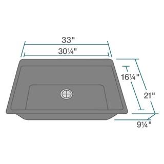 T848 Silver Quartz Large 1-bowl Top-mount Sink (2 options available)