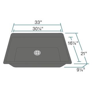 T848-Black Black Quartz Large single-bowl Top-mount Sink (4 options available)